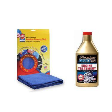Premium Engine treatment - Smooth 100 SM-100 444 ml+Microfiber Cloth