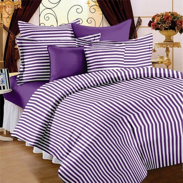 Storyathome 100% Cotton Single Bedsheet with 1 Pillow Cover-SP1204