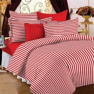 Storyathome 100% Cotton Single Bedsheet with 1 Pillow Cover-SP1205