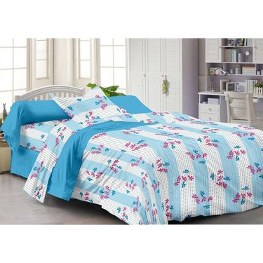 Storyathome Set Of 2 Single Bedsheet With 2 Pillow Cover-SP1210-SP1215