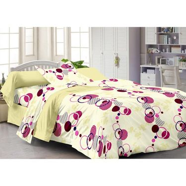 Storyathome 100% Cotton Single Bedsheet with 1 Pillow Cover-SP1214