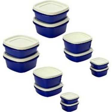 Cutting Edge Snap Tight Air Tight Storage Container Combo Set Of 12 Blue