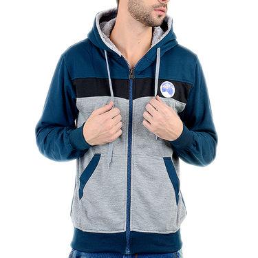 Blended Cotton Full Sleeves Sweatshirt_Swdl14 - Grey & Blue