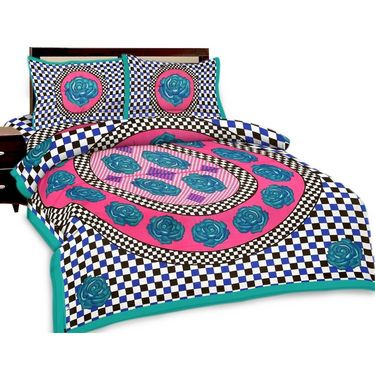 Set of 3 Jaipuri Print Double Bedsheets with 6 Pillow Covers-SRA3DB-4