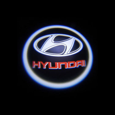 Set of 2 pcs Branded Car Door Welcome Light LED Projection Ghost Shadow Light Laser Hyundai Logo