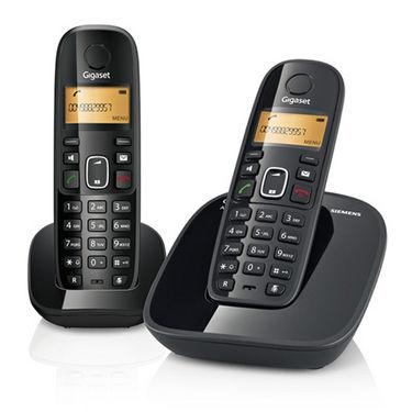 Gigaset A490 DUO Cordless Phones - Black