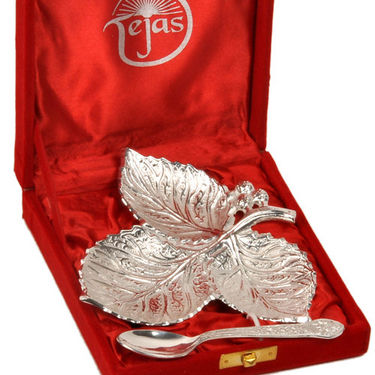 Silver Polish Leaf Shaped Brass Freshener Set 270