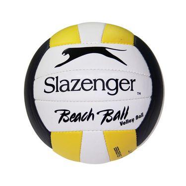 Slazenger Volley Ball Beach Ball - White, yellow & Blue