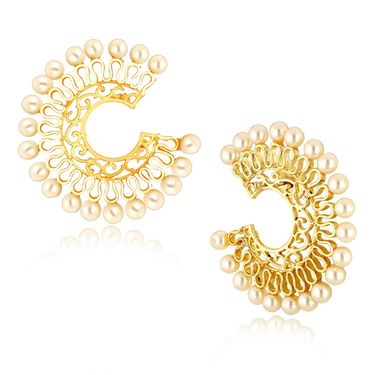 Spargz Pearl Designer Earrings - White _AIER401