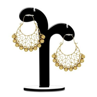 Spargz Golden Bali Cuff Earrings - Golden _AIER420