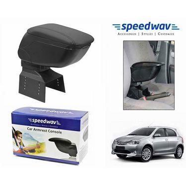 Speedwav Car Armrest Console Black Color- Toyota Etios Liva