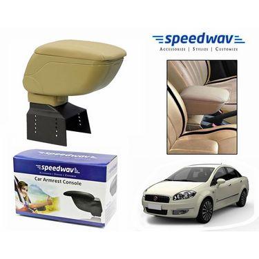 Speedwav Car Armrest Console Beige Color- Fiat Linea