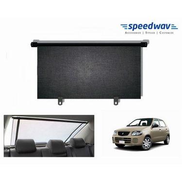 Speedwav Car Rear Window Roller Sunshade 90cm Black- Maruti Alto Old