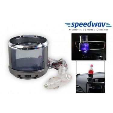 Speedwav LED Color Changing Car A/C Vent Drink / Can / Glass /Bottle Holder