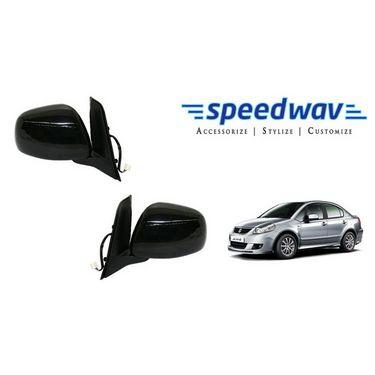 Speedwav Car Side Rear View Mirror Assembly SET OF 2 - Maruti SX4