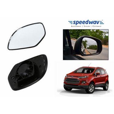 Speedwav Car Rear View Side Mirror Glass LEFT-Ford EcoSport
