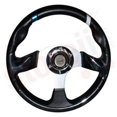 Sporty and Stylish Car Steering Wheel - Black