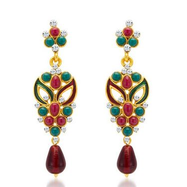 Sukkhi Sleek & Creative Gold Plated Necklace Set - Golden - 2134NADV2150