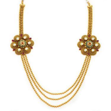 Sukkhi Trendy Antique Gold Plated Necklace Set - Golden - 2145NKDS5400