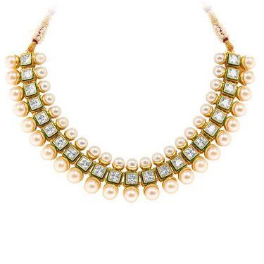 Sukkhi Gleaming & Fascinating Gold Plated Necklace Set - Golden - 2155NADV4000
