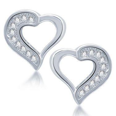 Sukkhi Fascinating Rhodium Plated Earrings - White - 207EARSDPVTS350