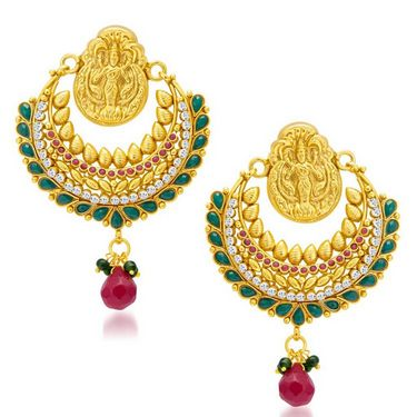 Sukkhi Angelic Gold Plated Earrings - Golden - 6057EGLDPL1250