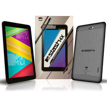 Swipe MTV Slash 4X Quad Core Dual SIM (2G+3G) HD IPS Display Calling Tablet  with 1GB RAM and 8 GB Internal Memory- Black