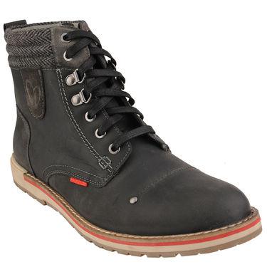 Delize Leather Casual Shoes T-0023-Black
