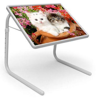 Shoper52 Designer Portable Adjustable Dinner Cum Laptop Tray Table-TABLE047