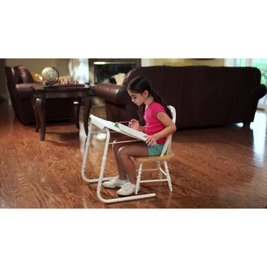 Shoper52 Designer Portable Adjustable Dinner Cum Laptop Tray Table-TABLE061