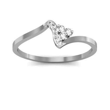 Avsar Real Gold & Swarovski Stone Pranali Ring_T046wb