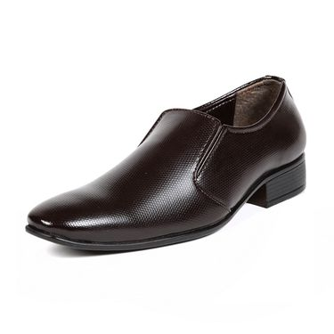 Ten Patent Leather Brown Formal Shoes -ts234