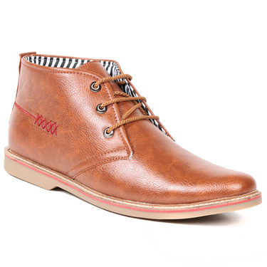 Ten Leather Brown Casuals Shoes -ts176
