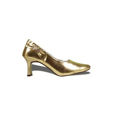 Ten Patent Leather Gold Pumps -ts02