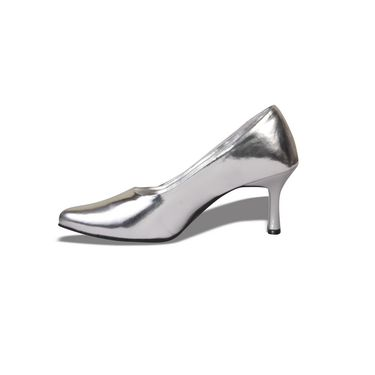 Ten Patent Leather Silver Pumps -ts03
