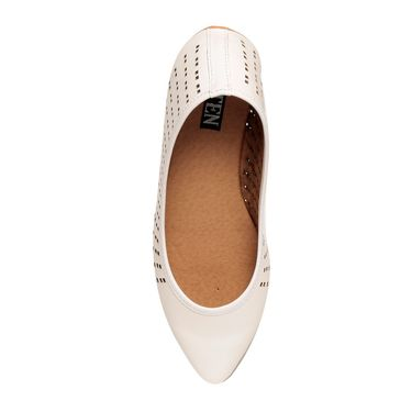 Patent Leather White Bellerinas -bltjb-07Wht01