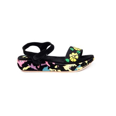 Ten Fabric Black Sandals -ts81