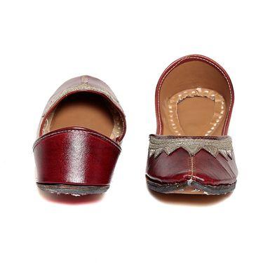 Patent Leather Maroon Juttis -03Mrn01