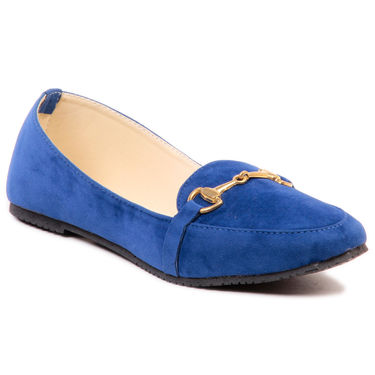 Ten Synthetic Leather Blue Loafers -ts238