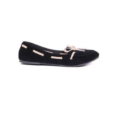 Ten Suede Black Loafers -ts131