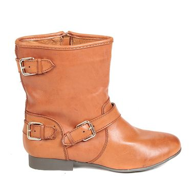 Leather Tan Boots For Womens -tb21