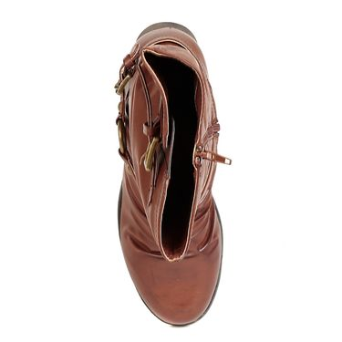 Leather Brown Boots For Womens -tb24