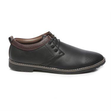 Ten Black Leather Casual Shoes -mtj24