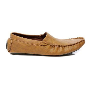 Ten Beige Leather Loafers -mtj03