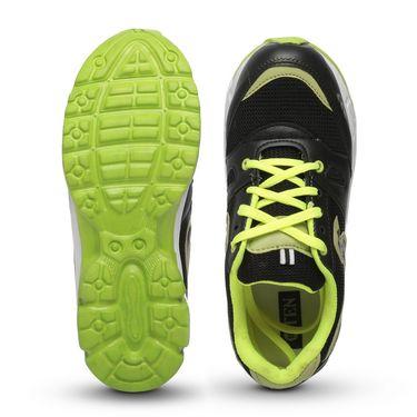 Ten Black & Green Mesh Sports Shoes -mtj12