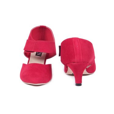 Ten Suede Leather 120 Women's Sandals - Red