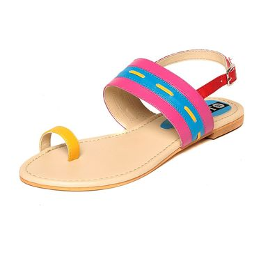 Synthetic Leather Multi::Pink Sandals -15Pnk01