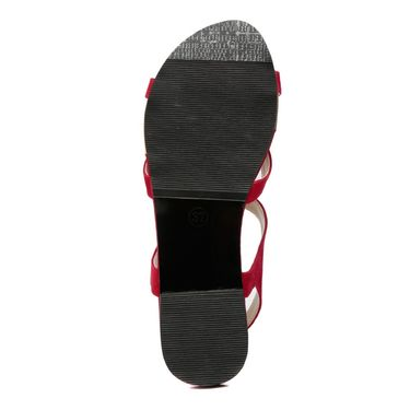 Suede Leather Red Sandals -16Red02