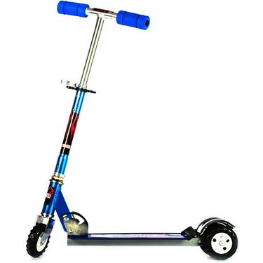 Kids Foldable Scooter with Adjustable Height, Broad Tyre Grip - Blue