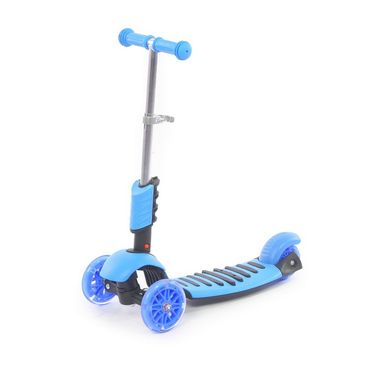 3 in 1 Sit or Kick & Height Adjustable Scooter for Kids - Blue